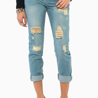 Slacking Off Boyfriend Jeans $53