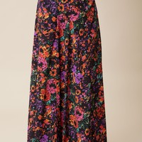 PRINCESS ARIEL FLOWER POP MAXI SKIRT