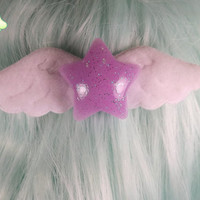 Sweet Lolita Angel Star Hair Clip - Lavender