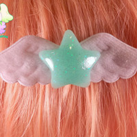 Sweet Lolita Angel Star Hair Clip - Mint
