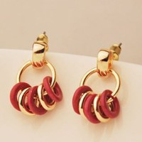 Circles Of Charms Statement Earrings