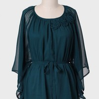 Evergreen Dream Curvy Plus Blouse
