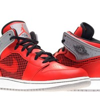 Air Jordan 1 Retro 89 (Kids) - Fire Red / Black-Cement Grey-White, 6 M US