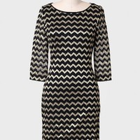 Social Conduct Chevron Dress