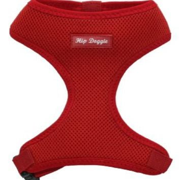 Award Winning, Hip Doggie Ultra Comfort Red Mesh Harness Vest - L