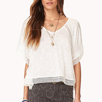 Gone Boho Crochet-Trimmed Top