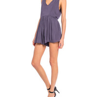 Low V-Back Romper
