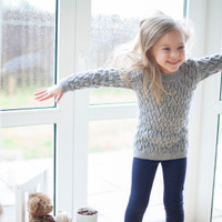 Dress, tunic for girl, merino wool » Craftori