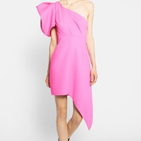 Saint Laurent Puffed One Shoulder Dress | Nordstrom