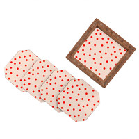 Garima Dhawan Vintage Dots Red Coaster Set