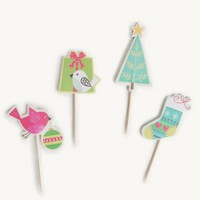 Treetop Birds Party Pick Set