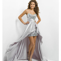 (PRE-ORDER) Blush 2014 Prom Dresses - Dove Sequin & Satin Strapless Empire Waist Prom Dress