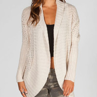RAZZLE DAZZLE Womens Cocoon Wrap Sweater