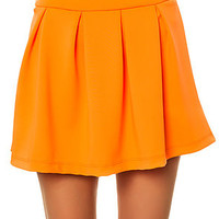 The Stay in School Skirt in Neon Orange