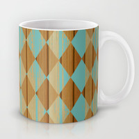 Wooden Mint  Mug by Louise Machado