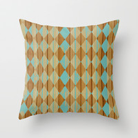 Wooden Mint  Throw Pillow by Louise Machado