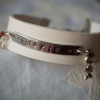 Customizable Leather Bracelet from Handmade Bijoux