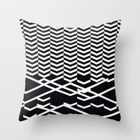 defragmentation Throw Pillow by Leandro Pita