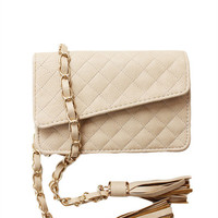 QUILTED BELT BAG MINI GOLD CHAIN CLASSIC VINTAGE COCO FANNY PACK PURSE at Miss Dandy | Miss Dandy