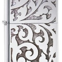 Zippo High Polish Chrome Filigree Windproof Lighter
