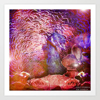 :: Peacock Party ::  by Gale Storm and Ganech Joe Art Print by GaleStorm Artworks