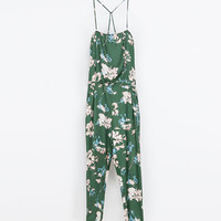 PRINTED FLOWING JUMPSUIT
