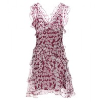 BUTTERFLY-PRINT SILK-ORGANZA DRESS