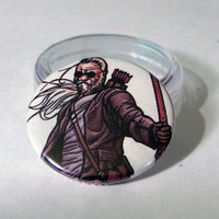 Comic Book 1.5 Button// Old Man Hawkeye