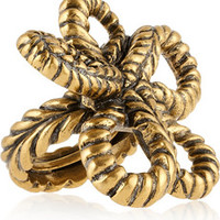 Oscar de la Renta Gold-plated knot ring – 40% at THE OUTNET.COM