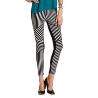 PIECED STRIPE PONTE LEGGING