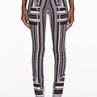 BLACK & WHITE STRIPE SKINNY TROUSERS