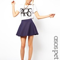 ASOS PETITE Exclusive Denim Skater Skirt