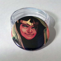 "Comic Book 1.5"" Button// Young Avengers// Loki"