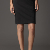 Compact Jersey High-Waist Pencil Skirt