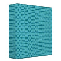 Cute Aqua Pattern Vinyl Binder