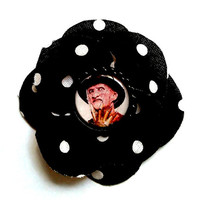 Freddy Krueger Hair Flower- Polka Dots/Psychobilly