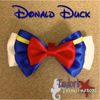 Donald Duck Inspired Bow