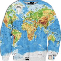 ☮♡ World Map Sweater ✞☆