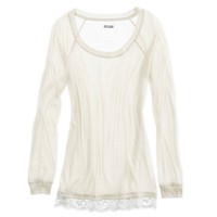 AERIE LACE-TRIM T-SHIRT