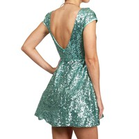 Pre-Order Jazzy-Mint Sequin Homecoming Dress