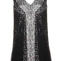 Petite Gatsby Metallic Dress