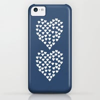 Hearts Heart x2 Navy iPhone & iPod Case by Project M