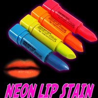 Black Light Responsive Neon Lip Stain (Set of 4 Colors)