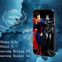 Batman and Superman Design for iPhone 4, iPhone 4S, iPhone 5, Samsung Galaxy S3, Samsung Galaxy S4 Case