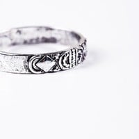 Engraved Thumb Ring in Silver at Urban Outfitters