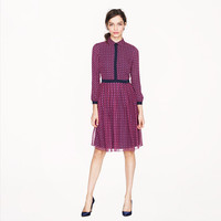 HOUNDSTOOTH CHIFFON SHIRTDRESS
