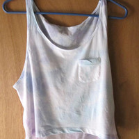 Pastel// Tie Dye // Cropped Tank Top// Blue & Purple