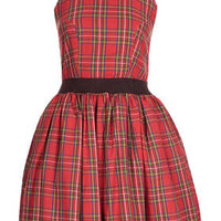 **TARTAN OPEN BACK DRESS BY RARE