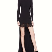 STELLA MC CARTNEY - High-Low Lace-Skirt Gown