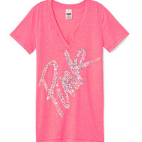 Bling V-neck Tee - PINK - Victoria's Secret